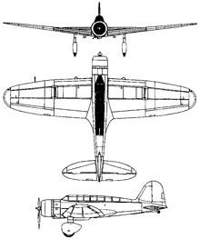 Plan 3 vues du Mitsubishi B5M Mabel