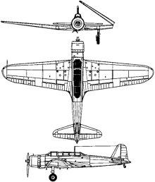 Plan 3 vues du Nakajima B5N  'Kate'