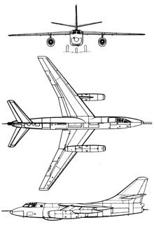 Plan 3 vues du Douglas B-66/RB-66 Destroyer