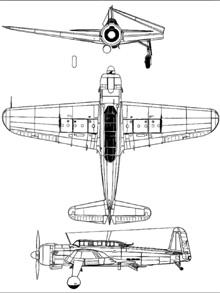Plan 3 vues du Nakajima B6N Tenzan 'Jill'