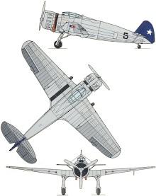 Plan 3 vues du Breda Ba.65