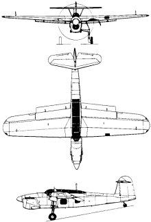 Plan 3 vues du Fairey  Barracuda