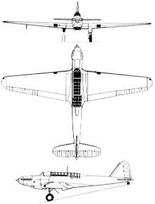 Plan 3 vues du Fairey  Battle