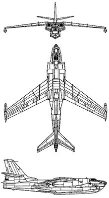 Plan 3 vues du Beriev Be-10 Mallow