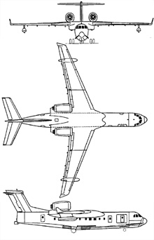 Plan 3 vues du Beriev Be-200