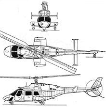 Plan 3 vues du Bell 222 / 230 / 292 / 430