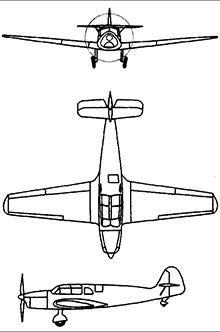 Plan 3 vues du Messerschmitt Bf 108 Taifun