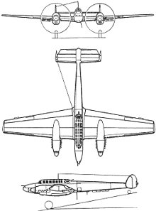 Plan 3 vues du Messerschmitt Bf 110
