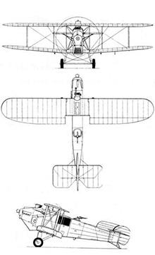 Plan 3 vues du Avro Bison