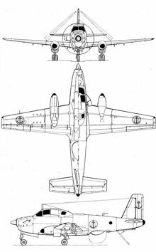 Plan 3 vues du Breguet Br.1050 Alizé