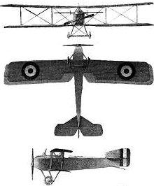 Plan 3 vues du Breguet Br.14