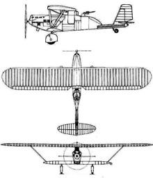Plan 3 vues du Breguet Br 27/270
