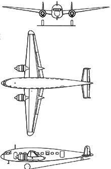 Plan 3 vues du Breguet Br.500 Colmar