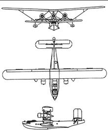 Plan 3 vues du Breguet Br.521 Bizerte