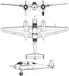 Plan 3 vues du Breguet Br.693