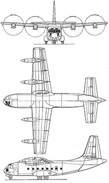 Plan 3 vues du Breguet Br.941