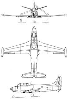 Plan 3 vues du Breguet Br.960 Vultur & Br.965 Epaulard