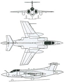 Plan 3 vues du Blackburn B-103 Buccaneer