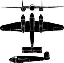 Plan 3 vues du Bristol  Buckmaster