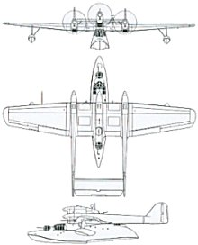 Plan 3 vues du Blohm und Voss Bv 138