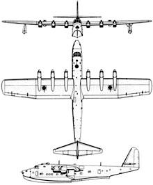 Plan 3 vues du Blohm und Voss Bv 222 Viking