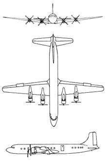 Plan 3 vues du Douglas C-118 Liftmaster