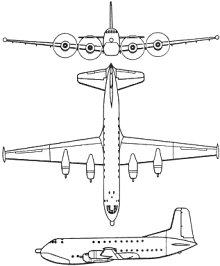 Plan 3 vues du Douglas C-124 Globemaster II