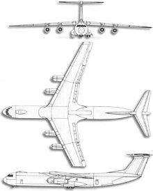 Plan 3 vues du Lockheed C-141 Starlifter