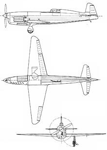 Plan 3 vues du Caudron C.430/C.450/C.460 Rafale