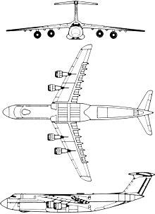 Plan 3 vues du Lockheed C-5 Galaxy