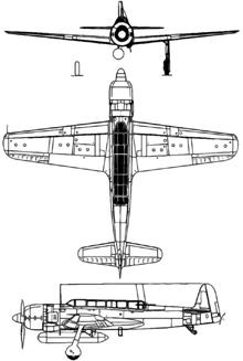 Plan 3 vues du Nakajima C6N Saiun 'Myrt'
