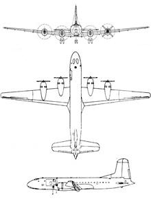 Plan 3 vues du Douglas C-74 Globemaster