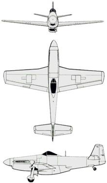Plan 3 vues du Commonwealth CA-15 Kangaroo