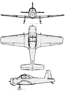 Plan 3 vues du Commonwealth CA-25 Winjeel