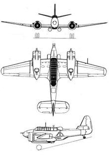Plan 3 vues du Commonwealth CA-4/CA-11 Woomera