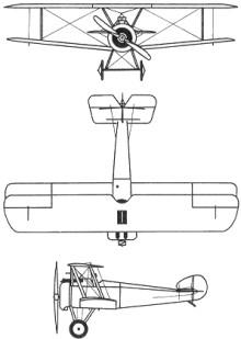 Plan 3 vues du Sopwith F.1 Camel