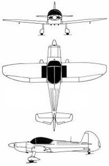 Plan 3 vues du Mudry Cap.10