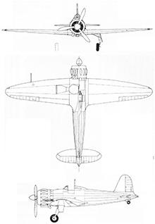 Plan 3 vues du Caproni F.5