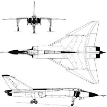 Plan 3 vues du Avro Canada CF-105 Arrow