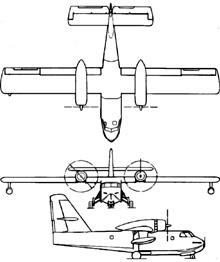 Plan 3 vues du Canadair CL-215