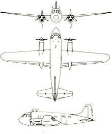 Plan 3 vues du Sud-Ouest SO.94/SO.95 Corse