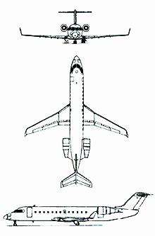 Plan 3 vues du Bombardier CRJ