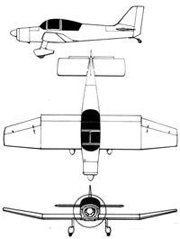 Plan 3 vues du Jodel D.140 Mousquetaire 'Abeille'