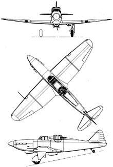 Plan 3 vues du Boulton Paul P.82 Defiant