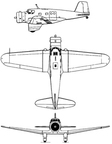 Plan 3 vues du Canadian Vickers Delta