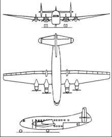 Plan 3 vues du Breguet Br.761/763/765 Deux Ponts