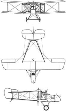 Plan 3 vues du Airco D.H.2