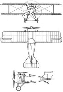 Plan 3 vues du Siemens-Schuckert D.III