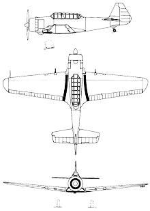 Plan 3 vues du FMA I.Ae. DL-22