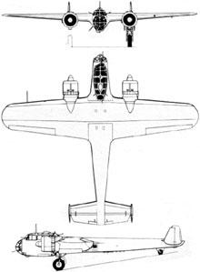 Plan 3 vues du Dornier Do 17
